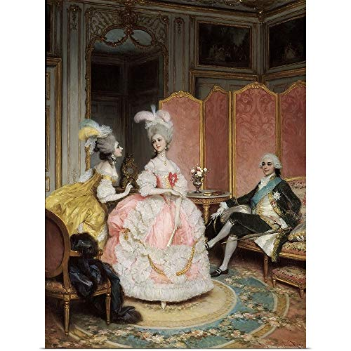 GREATBIGCANVAS Poster Print Entitled French Brothel in 18th Century, 19th Century French Painting by French School 18