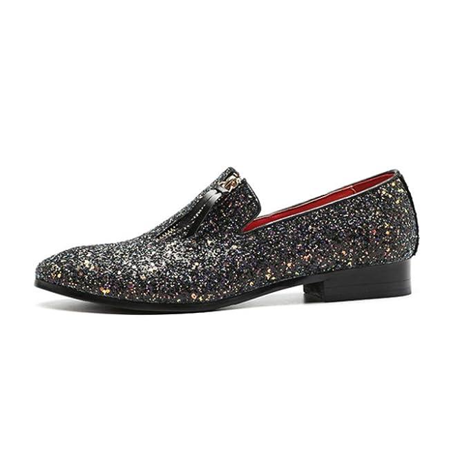 b4fa2e27ee DAN Zapatos Puntiagudos Para Hombres Zapatos Con Cremallera Para Mareas Zapatos  Casuales Para Jóvenes Para Hombres Zapatos Con Guisantes Brillantes Zapatos  ...