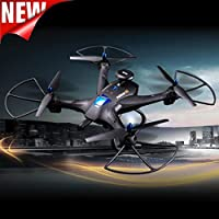 New Global Drone X183 5.8GHz 6-Axis Gyro WiFi FPV 1080P Camera Dual-GPS Follow Me Brushless Quadcopter By Hongxin(Black)