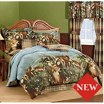 Amazon Com Deer Hunting Cabin Themed Full Comforter Set