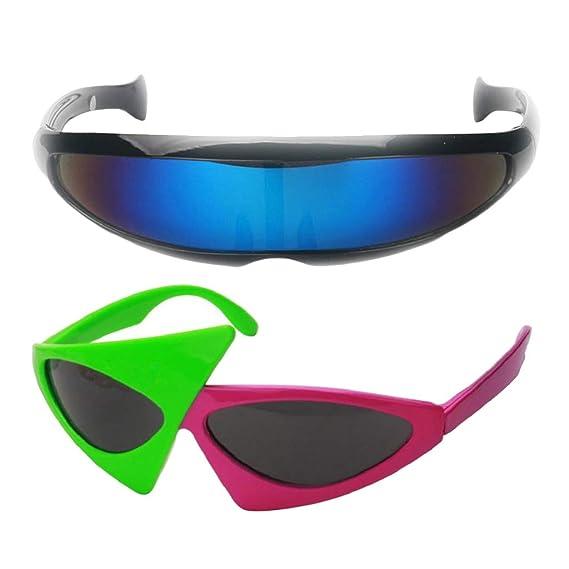 Baoblaze Juego de Gafas de Sol Visera Lente Multicolor ...