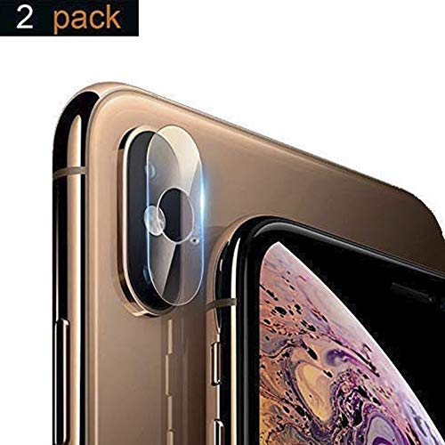 iPhone Xs Max/iPhone Xs/iPhone X Camera Lens Protector - [2 Pack] Adwox Super Clear Ultra HD Back Camera Lens Tempered Glass Screen Cover Film Shield for Apple iPhone Xs Max/iPhone Xs/iPhoneX