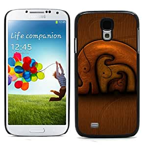CASEPRADISE Cute Printing Series Hard Rubberized Plate Back And Plastic Etui Case Coque Hard Cover For Samsung Galaxy S4 I9500