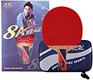 Double Fish 8A Stars Carbon Racket Pen Hold Type + Storage Bag