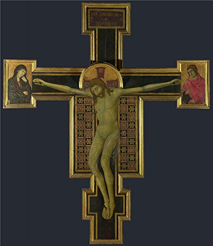 Oil Painting 'Crucifix 14th Century', 12 x 14 inch / 30 x 35 cm , on High Definition HD canvas prints is for Gifts And Basement, Home Theater And Laundry - Coupon Sports Flatiron