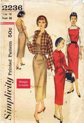 Simplicity 2236 Sewing Pattern Misses Jacket Dress Jumper Check Offers for Size