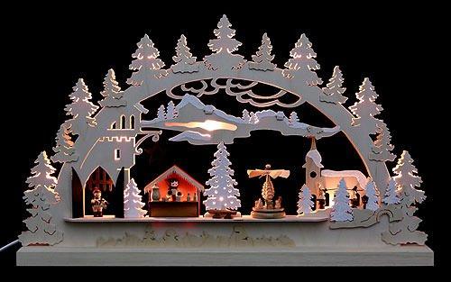 キャンドルアーチ – 村クリスマス – 62 X 37 X 5,5 cm / 24 x 14 x 2インチ – マイケルミュラー B001ABRGKU