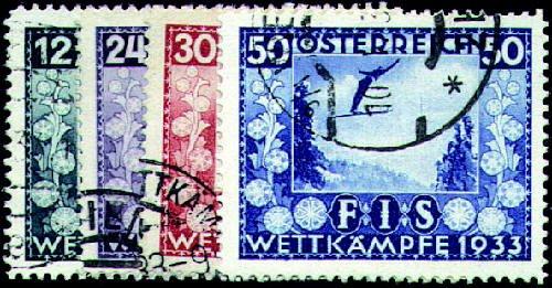 Goldhahn Österreich Nr. 551-554 gestempelt