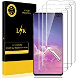 LK [3 Pack] Screen Protector for Samsung Galaxy S10 Plus / S10+, [HD Clear][Case-Friendly] Bubble-Free with Lifetime Replacement Warranty