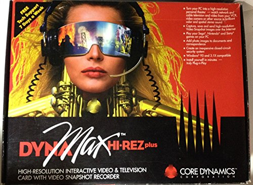 Dynamax Hi Rez Plus   High Resolution Interactive Video And Television Card With Video Snapshot Recorder  Windows 95 Version