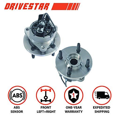 Lug Front Wheel Bearing - DRIVESTAR 513204X2 (Pair) New FRONT Wheel Hub Bearing Assembly 4 Lug for Chevy Cobalt G5 Ion w/ABS
