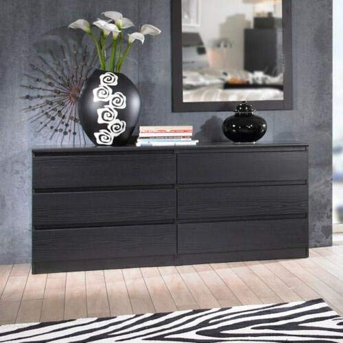 Home Square 2 Piece Dresser and Night Stand with Drawers in Black Woodgrain by Home Square (Image #5)