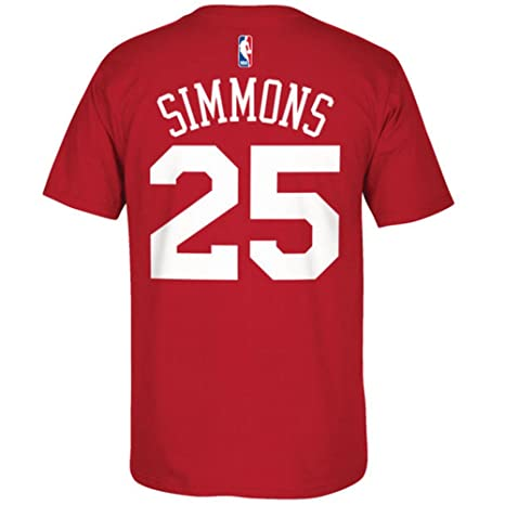 e4618c58c10 adidas Philadelphia 76ers Ben Simmons Red Name and Number T-Shirt (2X)