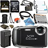 Fujifilm FinePix XP130 Digital Camera (Silver) #600019824 + Fujifilm XP Series Digital Camera Standard Accessory Kit + 64GB SDXC Card + Replacement Lithium Ion Battery + Charger Bundle