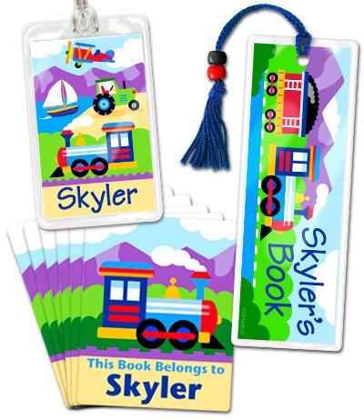 Olive Kids Trains,Planes and Trucks Lil Reader Book Marker Set TPTX-051
