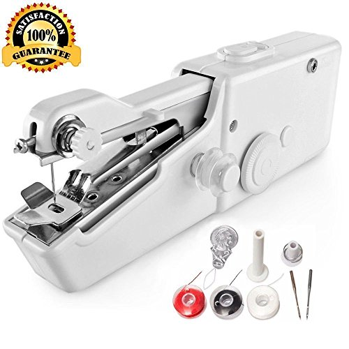 Portable Sewing Machine - Mini Sewing Professional Cordless Sewing Handheld Electric Household Tool - Quick Stitch Tool for Fabric, Clothing, or Kids Cloth Home Travel Use by Beerrom