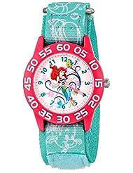 Disney Kid's W001190 Ariel Little Mermaid Time Teacher Watch with Blue Nylon Band