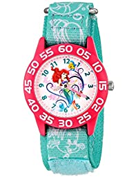 Disney Kid's W001190 Ariel Little Mermaid Time Teacher Watch with Blue Nylon Band