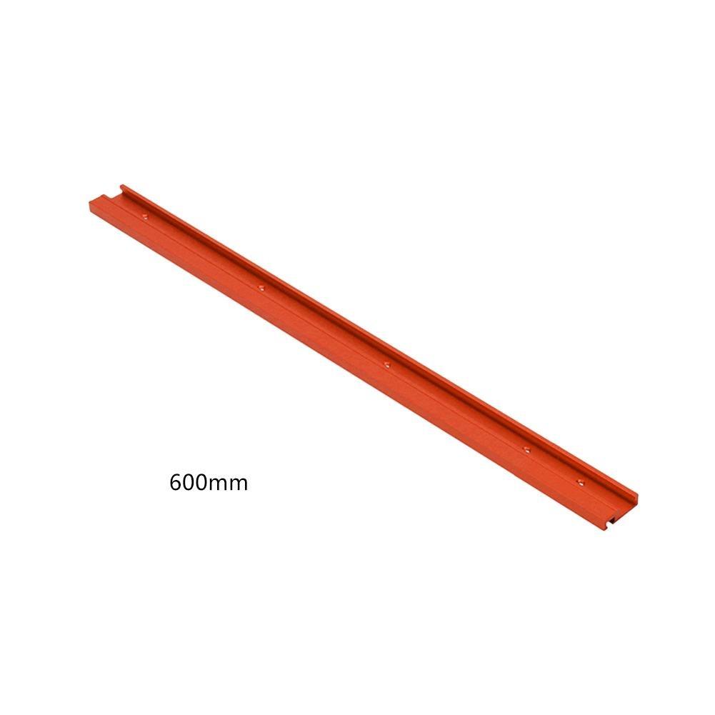 Clevoers T-Track T-Slot Mitre Piste Jig Fixture Slot 600/800 mm Rouge en Alliage d'aluminium T-Track menuiserie Standard pour Router Table Saw, Couleur, A:600MM A: 600MM