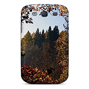 Awesome EtOiPpZ1231KxvTi Jamesmeggest Defender Tpu Hard Case Cover For Galaxy S3- Autumn Day
