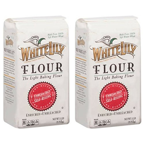 White Lily Unbleached Self-Rising Flour, 5-lb bags (2-Pack)