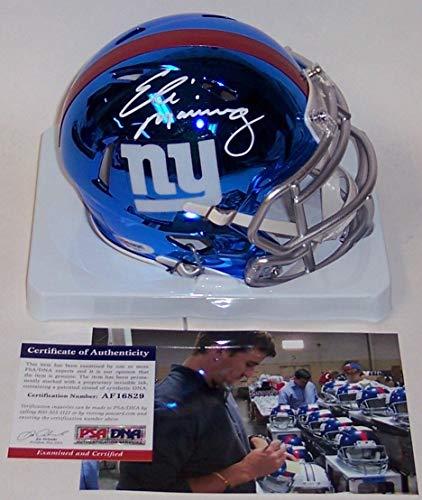 - Eli Manning - Riddell - Autographed CHROME Speed Mini Helmet - New York Giants - PSA/DNA