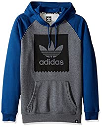 adidas Originals Men\'s Skateboarding Blackbird Hoody, Raglan Dark Grey/Mystery Blue, X-Large
