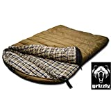 Grizzly 2 Person +0 Degree Rip Stop Sleeping Bag (Olive)