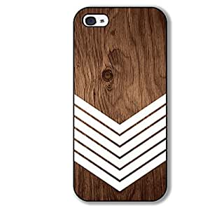 Geometric Wood Chevron Iphone 5 5s Case - Hard Rubber Case - Black or White