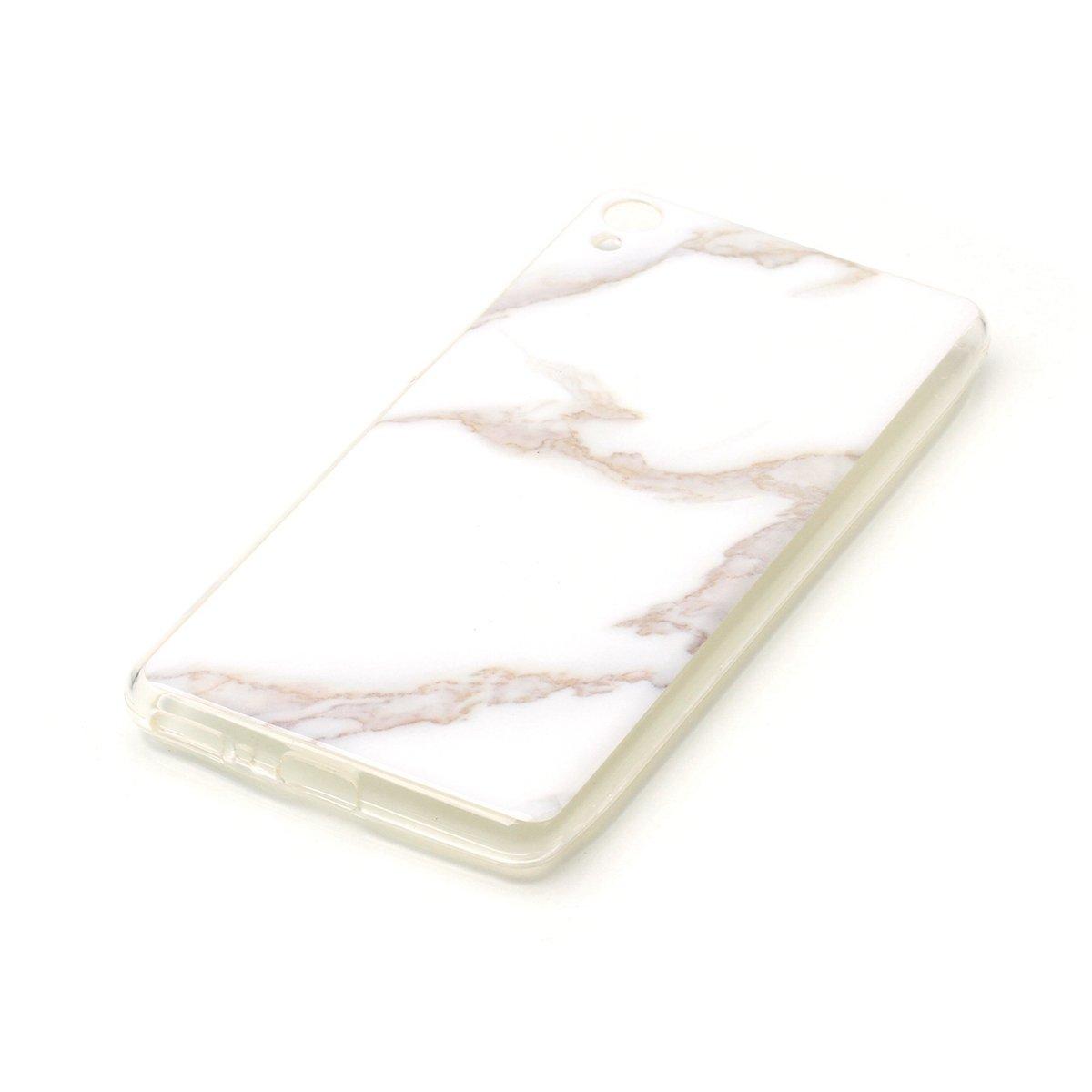 Sony Xperia XA Trasparente TPU Silicone Custodia Cassa Gomma Soft Silicone Morbida Cover Ultra Sottile Custodia Flessibile con Colorato Marmo Disegno-Colore 5# Ukayfe Custodia Cover Sony Xperia XA