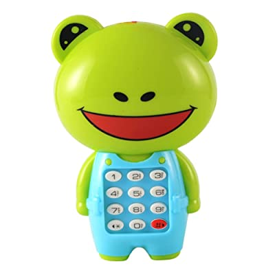 Shuohu Frog Animal LED Musical Mobile Phone with Lanyard Toy,Kids Educational Music Toy Frog #: Home & Kitchen