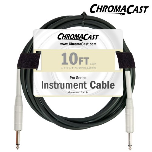 ChromaCast Vanilla Cream 10-Feet Pro Series Instrument Cable, Straight (CC-PSCBLSS-10VC)