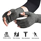 Arthritis Gloves - Warmth and Compression for relief of Rheumatoid and Osteoarthritis Joint Pain (Large)