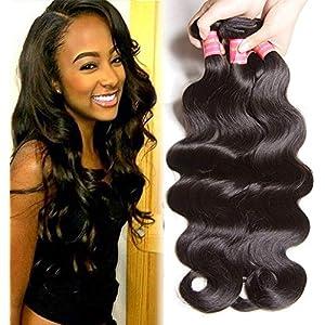 Beauty Forever Hair Brazilian Virgin Body Wave Hair Weave 3 Bundles 10A Unprocessed Virgin Human Hair Extensions Natural…