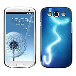 [Neutron-Star] Snap-on Series Teléfono Carcasa Funda Case Caso para Samsung Galaxy S3 [Luces Cielo Azul Agua]
