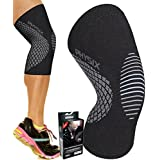 Physix Gear Knee Support Brace - Premium Recovery & Compression Sleeve For Meniscus Tear, ACL, MCL Running & Arthritis - Best Neoprene Stabilizer Wrap for Crossfit, Squats & Workouts - For Men & Women