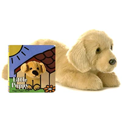 "Aurora World Inc. Flopsie Plush Goldie Labrador Dog, 12"" (Gift Set): Arts, Crafts & Sewing"