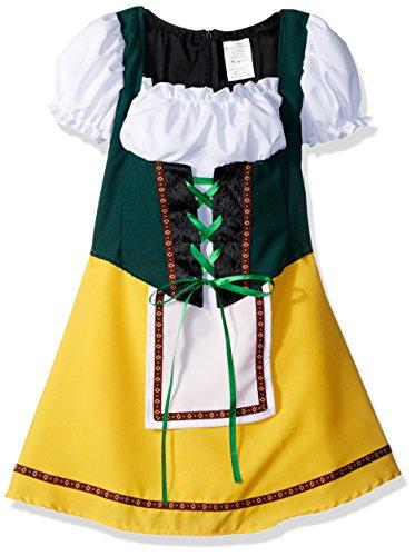 RG Costumes Bavarian Girl Costume, Green/Yellow/White, Small ()
