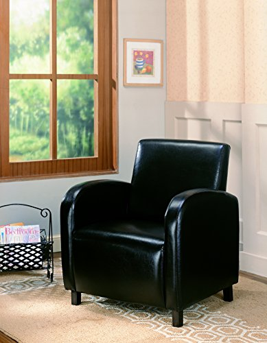 Coaster Contemporary Upholstered Accent Chair, Dark Brown