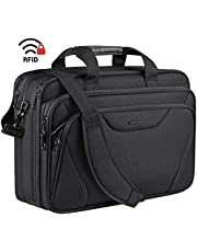 "KROSER 18"" Laptop Bag Premium Laptop Briefcase Fits Up to 17.3 Inch Laptop Expandable Water-Repellent Shoulder Messenger Bag Computer Bag for Travel/Business/School/Men/Women-Black"