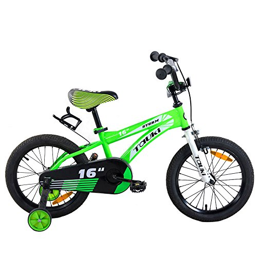 Tauki Kid Bike BMX Bikes for Boys 16 Inch with Training Wheels and Hand Brake, 95% Assembled, Green by Tauki