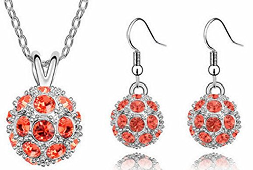 (Richy-Glory - 18K Gold Plated Crystal Trendy Ball Crystal Jewelry Sets)