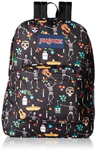 JanSport Superbreak Backpack - Durable for School & Travel, with Padded Shoulder Straps - (Day of the Dead) -