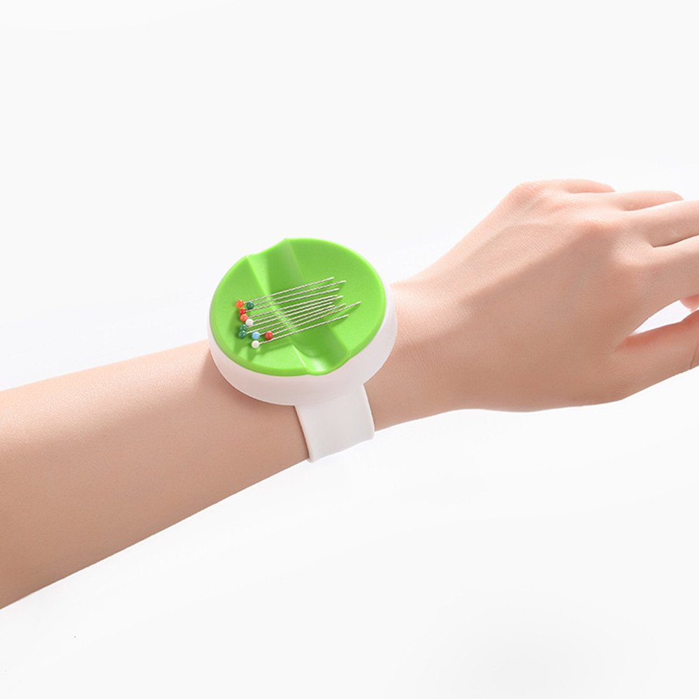 purple YEQIN NEW Magnetic Wrist Pin Holder Wrist Pinny Slap Band 5 Vibrant Colours available
