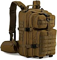 Gelindo Military Tactical Backpack, Hydration Backpack, Army Molle Bag, Small Rucksack for Hunting, Survival,