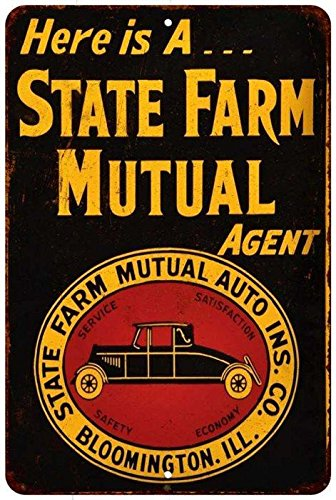 State Farm Mutual Auto Ins  Vintage Look Reproduction 8X12 Metal Signs 8121137