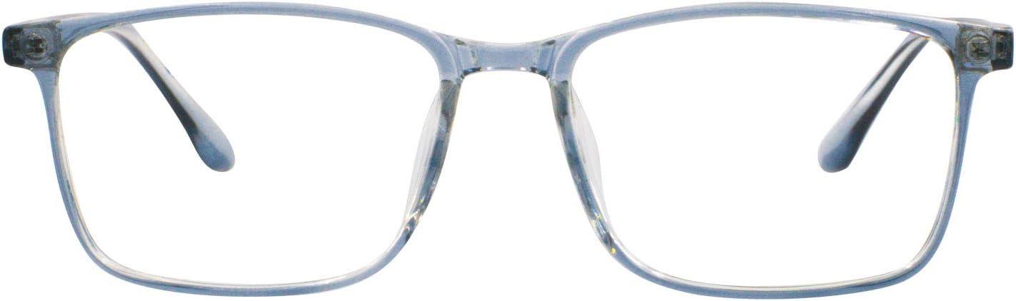 Foxmans Gafas para Computadoras y Pantallas Digitales, Filtro de Luz Azul - El Harrison | Uso Diario (marco de cristal)
