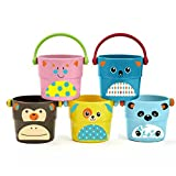 9 * 11cm Bath Small Bucket Toy 1 Set (New Set of 5)
