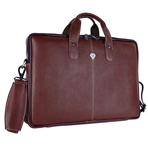 Prohyde Genuine Leather 15.6 inch Laptop Messenger Bag