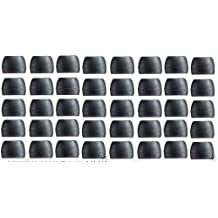 Generic Gadgetbrat40 Pcs Med Black Color Silicone Replacement Ear Buds Tips for Audio-technica Skullcandy Monster Sony Ultimate Ears Sharp Sennheiser Plantronics TDK Phillips Panasonic Denon Griffin